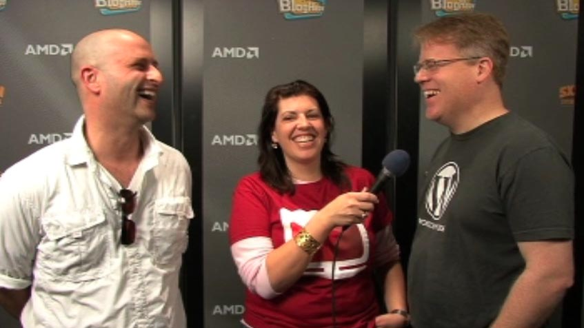 Robert Scoble and Loren Feldman, Live from SXSWi Bloghaus