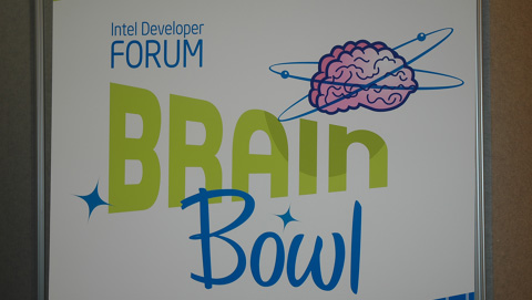 Intel IDF Brain Bowl Matched Media and Intel Execs at Opening Night Soiree